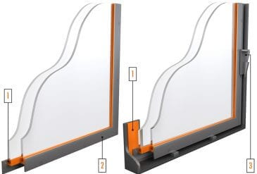 Industrial Windows with H Frame Heat Shield Mounting