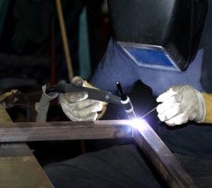 TIG Welding steel frame