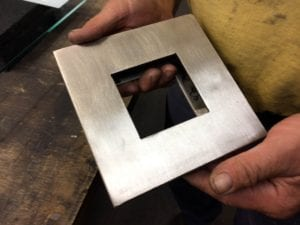 Stainless steel furnace port assembly